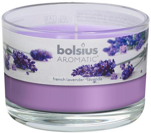 DUFTKERZE Lavendel - Klar/Violett, Basics, Glas (9/6,3cm) - Bolsius