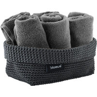 AUFBEWAHRUNGSKÖRBCHEN - Anthrazit, Basics, Textil (12/9/20cm) - Blomus