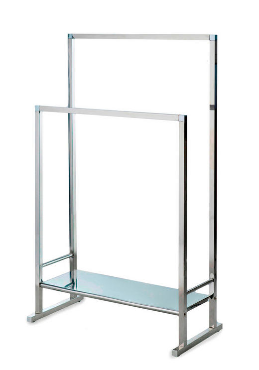 HANDTUCHHALTER Edelstahlfarben - Edelstahlfarben, Design, Metall (60/100/30,5cm)
