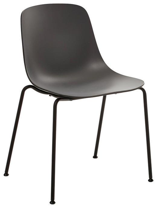 STUHL Dunkelgrau, Schwarz - Dunkelgrau/Schwarz, Design, Kunststoff/Metall (59,5/81,5/55cm)