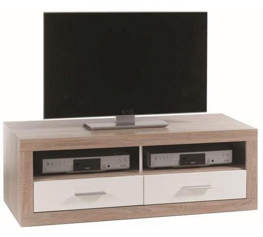 TV ELEMENT - bijela/boje hrasta, Design, drvni materijal/plastika (120/44/50cm) - Xora