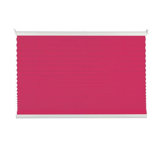 PLISSEE  halbtransparent  60/130 cm    - Pink, Basics, Textil (60/130cm)