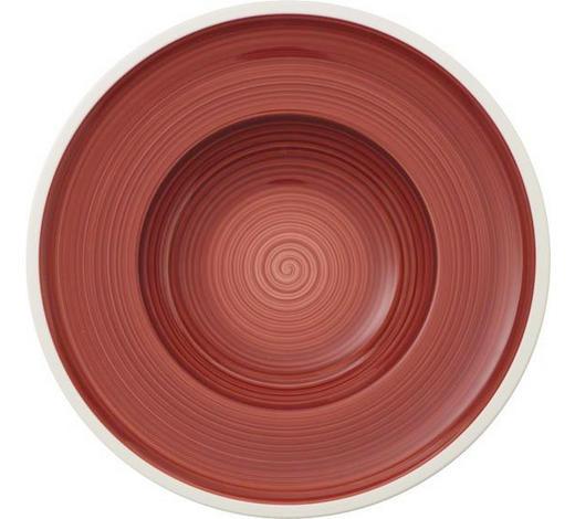 SUPPENTELLER Porzellan  - Rot/Weiß, Trend, Keramik (25cm) - Villeroy & Boch