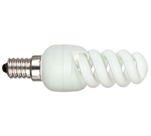 Energiesparleuchtmittel E14 - Weiß, Basics (3.2/9.7cm)