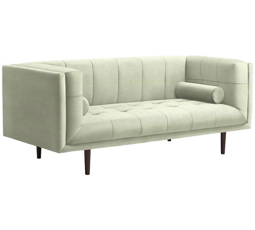 SOFA in Textil Creme - Dunkelbraun/Creme, Design, Holz/Textil (200/80/87cm) - Carryhome