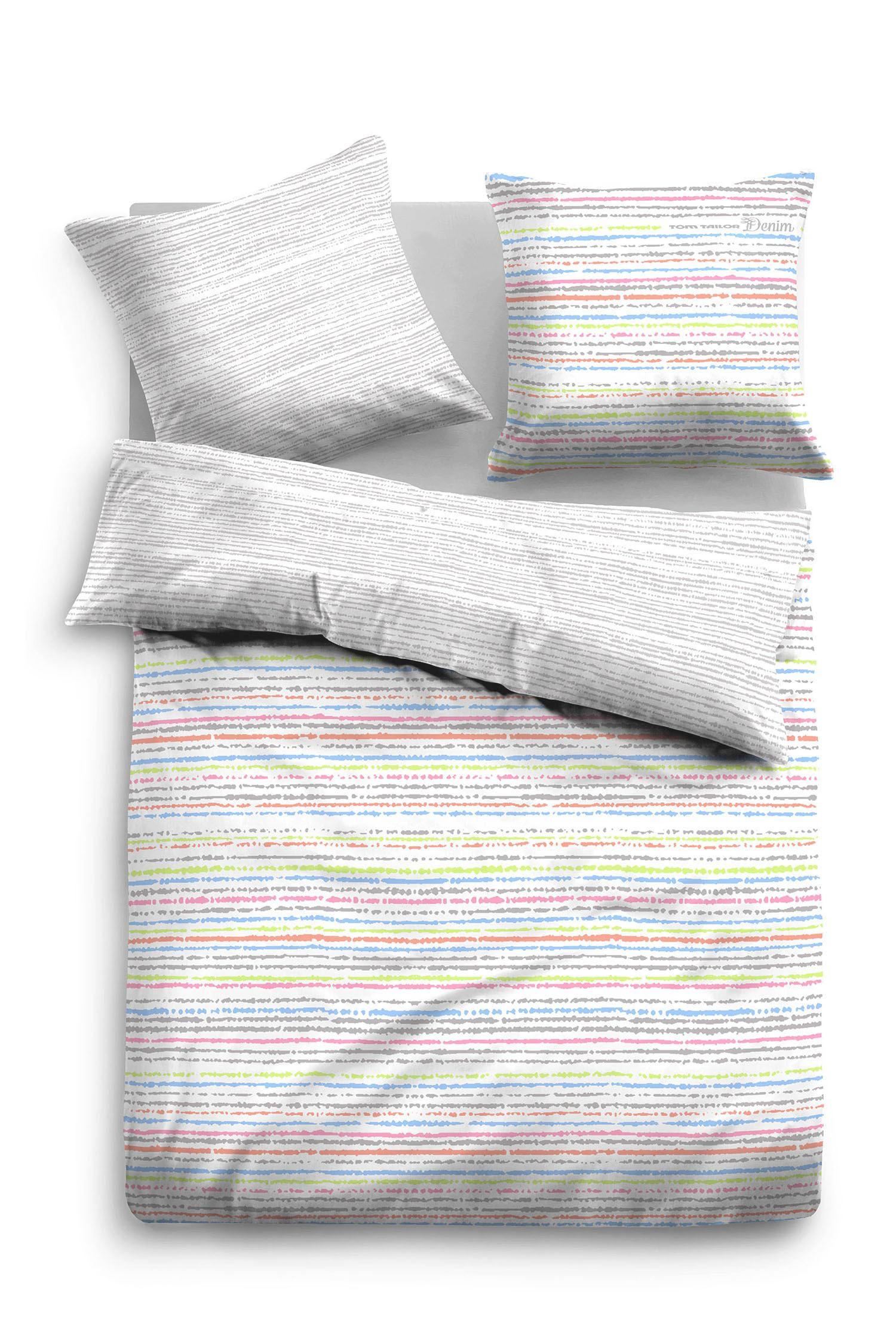 POSTELJINA ZA MLADE - bijela/bež, Design, tekstil (135/200cm) - TOM TAILOR
