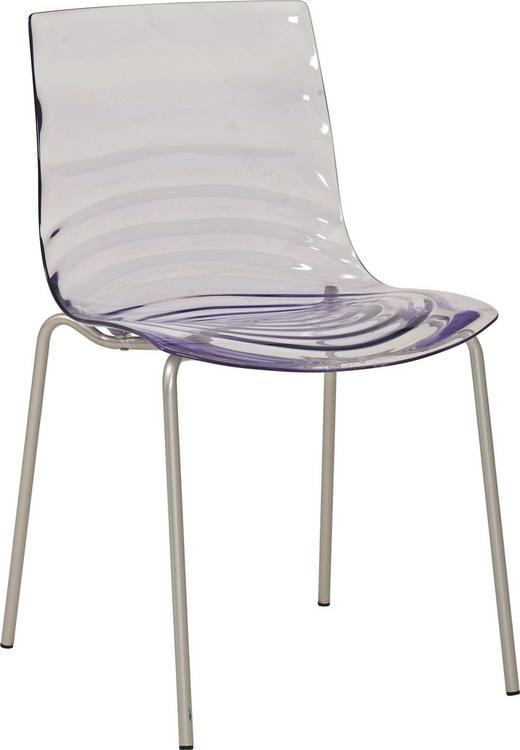 STUHL in Metall, Kunststoff Transparent - Transparent, Design, Kunststoff/Metall (47,50/80/55cm) - Calligaris