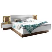 POSTELJNA GARNITURA  180 cm  x  200 cm , leseni material bela, hrast - bela/hrast, Design, leseni material (180/200cm) - Hom`in