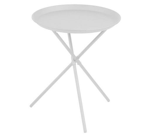BEISTELLTISCH in Weiß - Weiß, Trend, Metall (38,5/46/38,5cm)