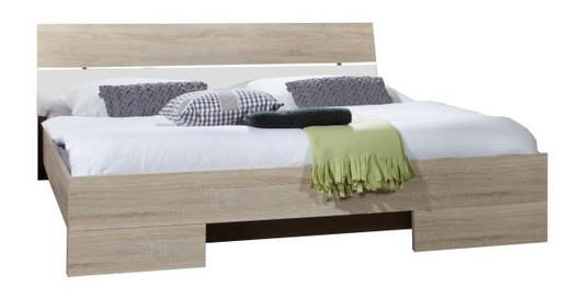 POSTEL - bílá/barvy dubu, Design, kompozitní dřevo (180/200cm) - Carryhome
