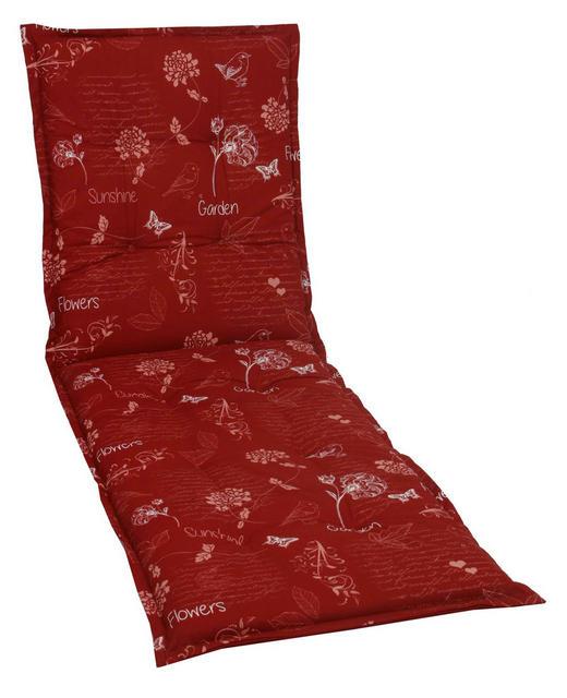 LIEGENAUFLAGE Floral - Rot, Design, Textil (60/190/6cm)