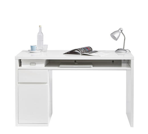 PISAĆI STOL - bijela, Konvencionalno, drvni materijal (130/77/60cm) - Ti`me