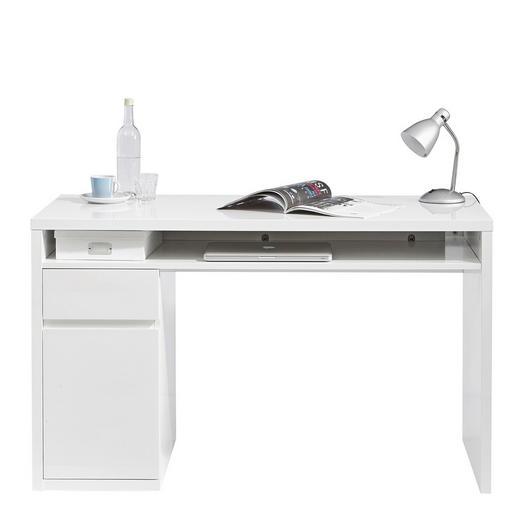 SCHREIBTISCH Weiß - Weiß, Design, Holzwerkstoff (130/77/60cm) - Ti`me