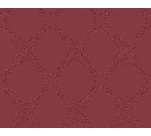 VLIESTAPETE - Rot/Weinrot, Design, Textil (53/1005cm)