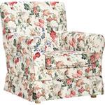 SESSEL in Textil Multicolor  - Multicolor/Naturfarben, Trend, Holz/Textil (79/86/85cm) - Ambia Home