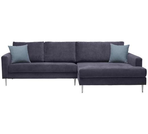 SEDACÍ SOUPRAVA, textil, šedá - šedá/barvy chromu, Design, kov/textil (276/173cm) - Xora