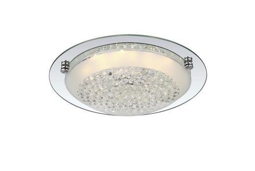 DECKENLEUCHTE - Chromfarben, KONVENTIONELL, Glas/Metall (32/9cm)