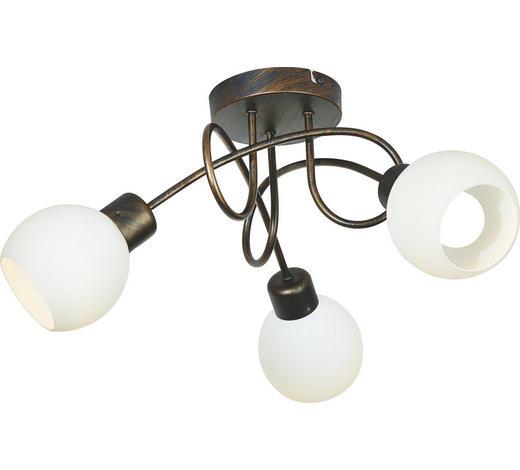 LED SVÍTIDLO - bílá/rezavá, Lifestyle, kov/sklo (52/19cm)