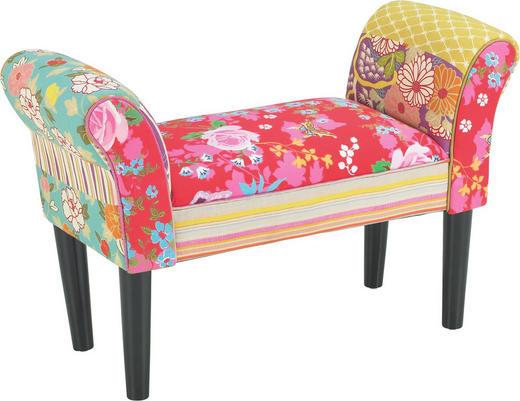 SITZBANK Multicolor - Multicolor/Schwarz, LIFESTYLE, Holz/Textil (75/52/31cm) - Carryhome
