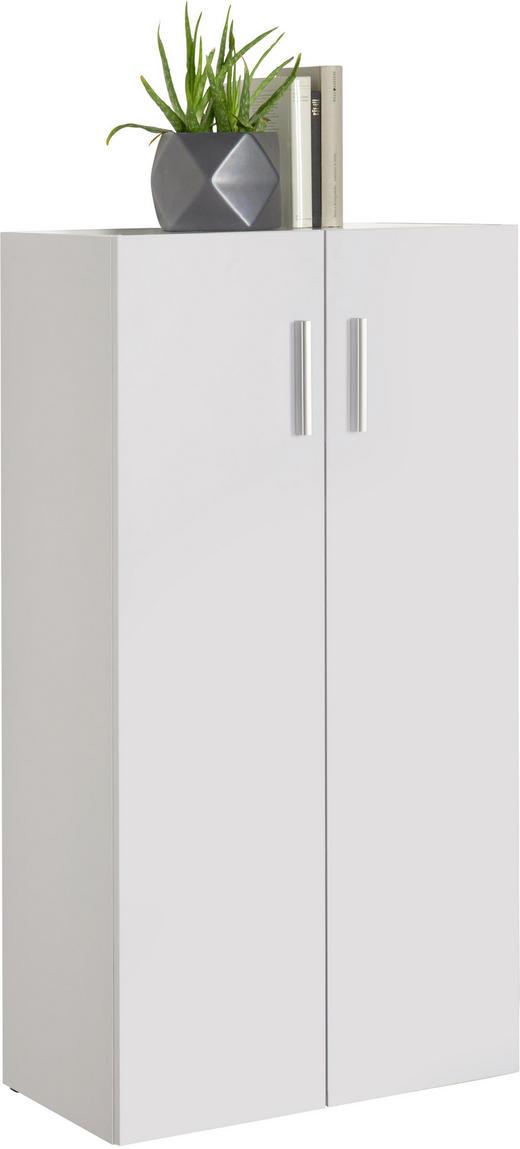 KOMMODE Weiß - Alufarben/Schwarz, Design, Holzwerkstoff/Kunststoff (60/115,2/33,6cm) - Carryhome