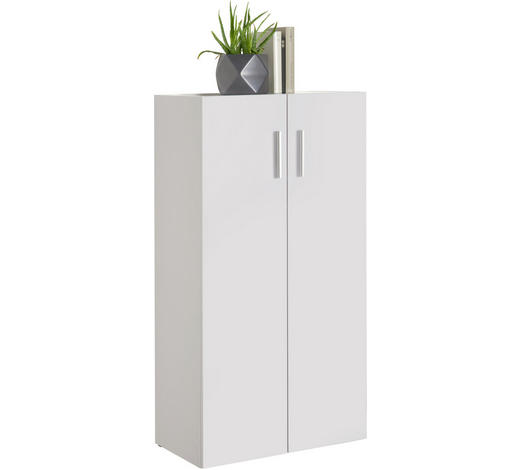 KOMODA - bílá/černá, Design, kompozitní dřevo/umělá hmota (60/115,2/33,6cm) - Carryhome