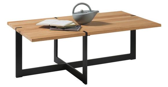 COUCHTISCH in Holz, Metall 110/60/39 cm - Eichefarben/Schwarz, MODERN, Holz/Metall (110/60/39cm) - Hom`in
