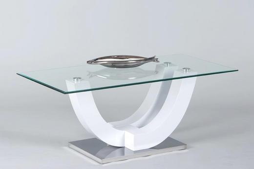 COUCHTISCH rechteckig Weiß - Weiß, Design, Glas (120/60/48cm) - Carryhome