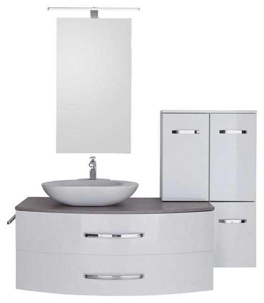KOPALNICA  bela, siva - siva/bela, Design, steklo/leseni material (150cm) - DIETER KNOLL