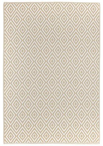 OUTDOORTEPPICH  In-/ Outdoor 90/150 cm  Weiß, Beige   - Beige/Weiß, Trend, Textil (90/150cm) - Boxxx