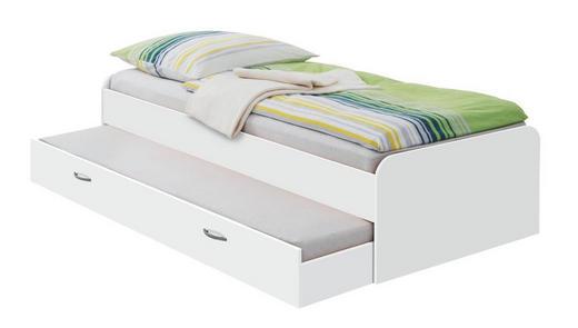 BETT 90/200 cm - Weiß, Design, Kunststoff (90/200cm) - Carryhome