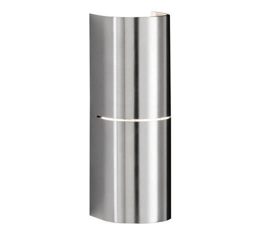 WANDLEUCHTE - Nickelfarben, Design, Metall (22cm)