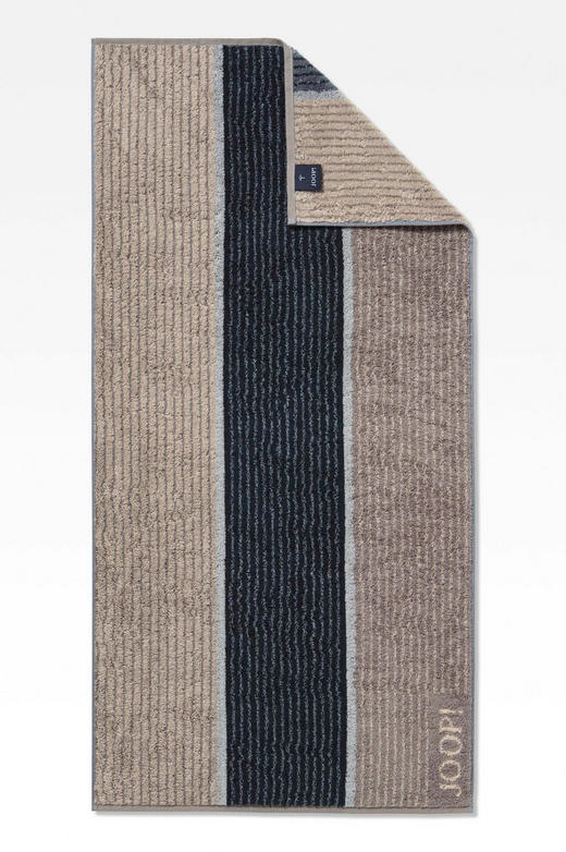 HANDTUCH 50/100 cm - Greige/Schwarz, Basics, Textil (50/100cm) - Joop!