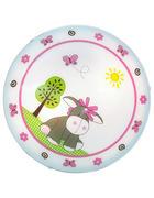 Kinderdeckenleuchte - Rosa/Weiß, Lifestyle, Glas/Metall (39,5cm) - My Baby Lou