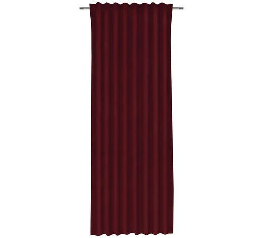 FERTIGVORHANG blickdicht - Rot, KONVENTIONELL, Textil (135/255cm) - Esposa