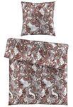 BETTWÄSCHE Satin Rot 155/220 cm  - Rot, KONVENTIONELL, Textil (155/220cm) - Ambiente