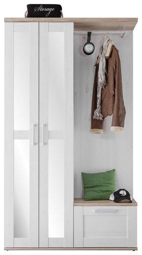 HALLINREDNING - vit/lärkfärgad, Lifestyle, glas/träbaserade material (115/201/38cm) - Xora