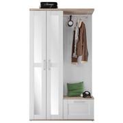 ŠATNA - bílá/barvy modřínu, Lifestyle, kompozitní dřevo/sklo (115/201/38cm) - Xora