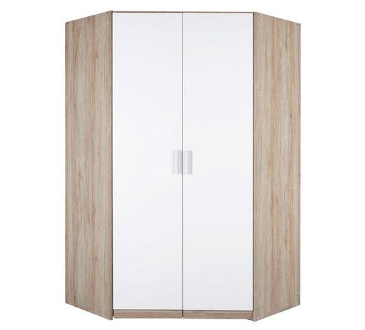 ROHOVÁ SKŘÍŇ, bílá, barvy dubu - bílá/barvy dubu, Konvenční, kompozitní dřevo/umělá hmota (117/197/117cm) - Carryhome