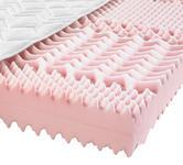 KALTSCHAUMMATRATZE 120/200 cm  - Weiß/Grün, Basics, Textil (120/200cm) - Sleeptex
