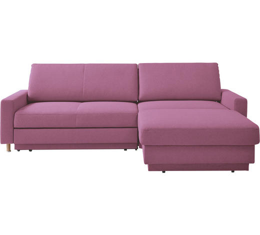 WOHNLANDSCHAFT in Textil Pink  - Pink/Naturfarben, KONVENTIONELL, Holz/Textil (250/158cm) - Venda