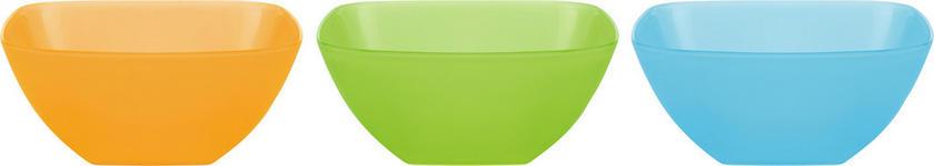 SALATSCHÜSSEL - Blau/Orange, Basics, Kunststoff (17,5/17,5/7,5cm) - Boxxx