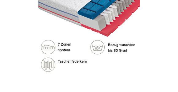 TASCHENFEDERKERNMATRATZE 100/200 cm  - Weiß, Basics, Textil (100/200cm) - Dieter Knoll