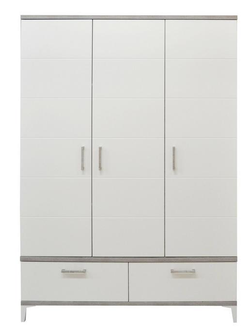 BABYKLEIDERSCHRANK Ida - Silberfarben/Weiß, Design, Holzwerkstoff/Kunststoff (131/195/55cm) - My Baby Lou