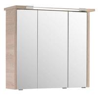 SKŘÍŇKA SE ZRCADLEM - barvy dubu, Design, dřevěný materiál/sklo (75/72/20cm) - Xora