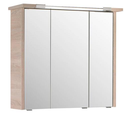 SPIEGELSCHRANK 75/72/20 cm - Eichefarben, Design, Glas/Holzwerkstoff (75/72/20cm) - Xora