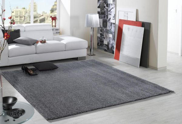 WEBTEPPICH  Grau, Perlmutt  80/150 cm - Perlmutt/Grau, Textil (80/150cm) - NOVEL