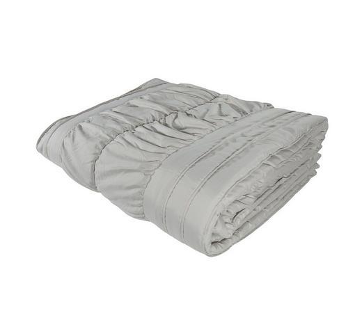 TAGESDECKE - Silberfarben, KONVENTIONELL, Textil (220/260cm) - Novel