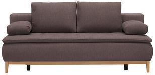 BOXSPRINGSOFA in Textil Braun  - Eichefarben/Beige, MODERN, Holz/Textil (202/78/93/100cm) - Venda