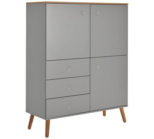HIGHBOARD 109/137/43 cm - Eichefarben/Grau, MODERN, Holz/Holzwerkstoff (109/137/43cm) - Lomoco