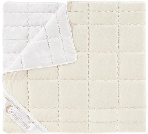 PODLOŽKA NA POSTEL, 90/200 cm,  - bílá/přírodní barvy, Basics, textil (90/200cm) - Schlafmond